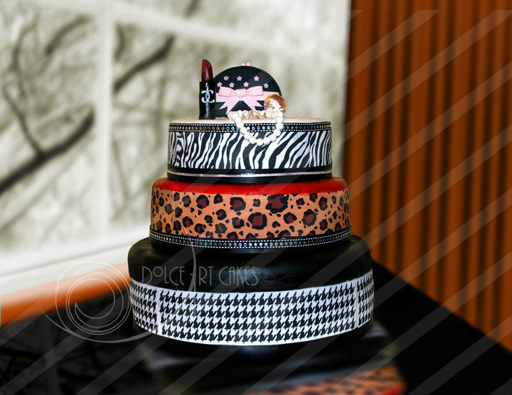 This Fashion Forward cake was created for the Grand Opening of Vintage Salon &amp; Spa in Gilbert Arizona
