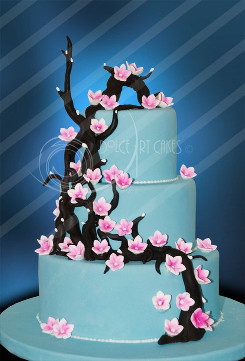  Cherry Blossom Branch Cake by Dolce Art Cakes