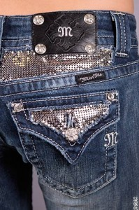 Miss me jeans, silver pocket