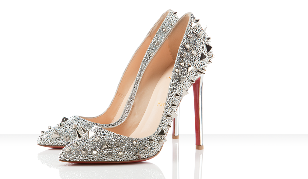 christian louboutin pigalili silver studded pumps