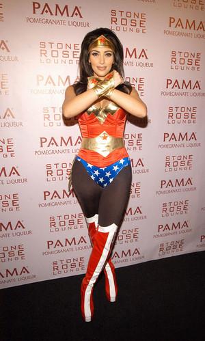 Kim Kardashian, Wonder Woman Costume Kim Kardashian: Anyone that knows me ...