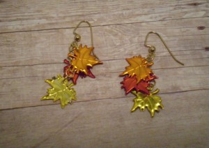 fall leaves earings, rita beada