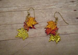 fall leaves earings, rita beada