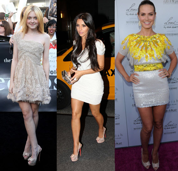 celebrity with christian louboutin shoes