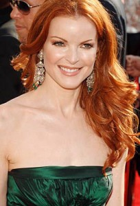 marcia cross, red hair