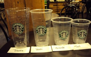 starbucks sizes